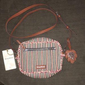 NWT Tommy Bahama canvas crossbody bag
